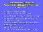 the queensland curriculum assessment and reporting framework years p 10