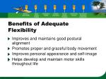 benefits of adequate flexibility4