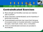 contraindicated exercises