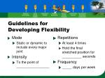 guidelines for developing flexibility