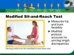 modified sit and reach test