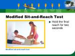 modified sit and reach test13