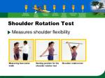 shoulder rotation test