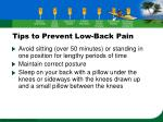 tips to prevent low back pain35
