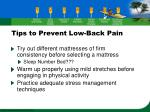 tips to prevent low back pain36