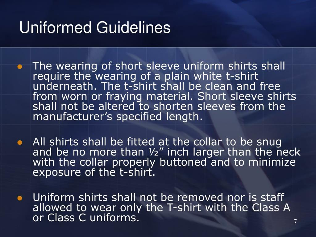 Uniformed Guidelines