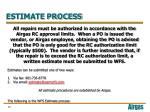 estimate process