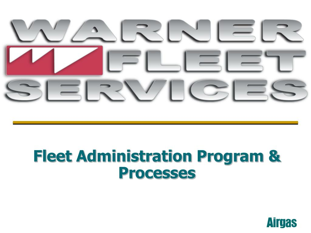 fleet administration program processes l.