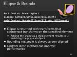 ellipse bounds