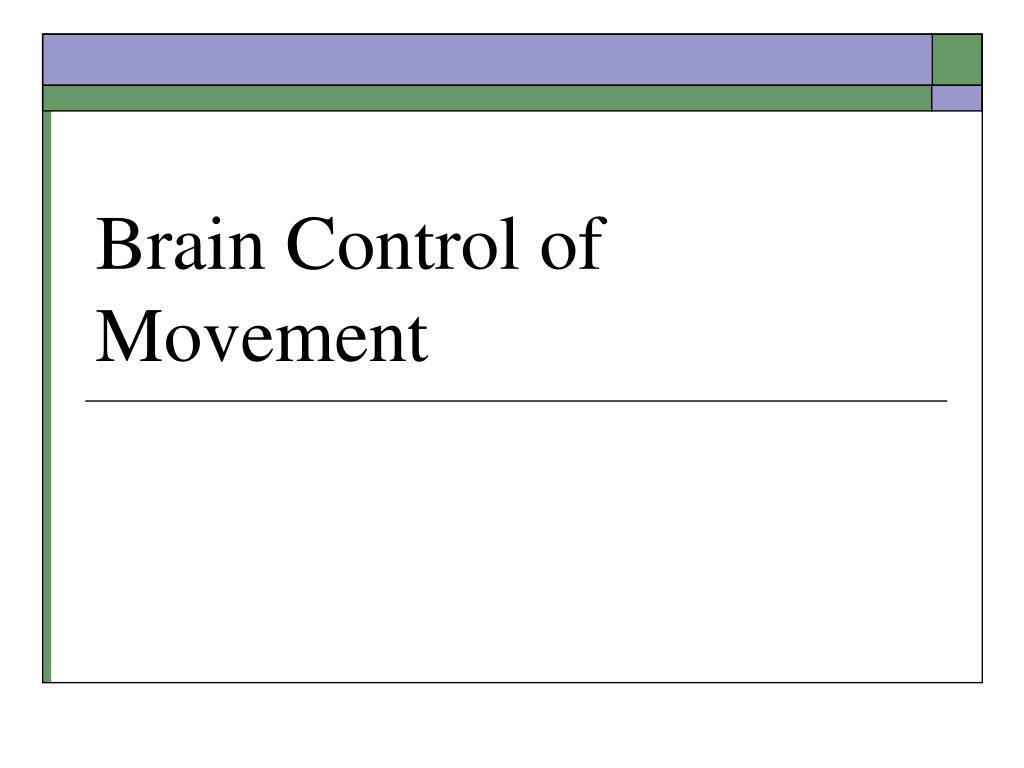 brain control of movement l.