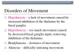 disorders of movement