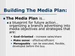 building the media plan18