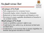 no fault versus tort