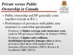 private versus public ownership in canada