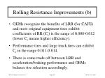rolling resistance improvements b