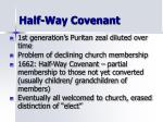 half way covenant
