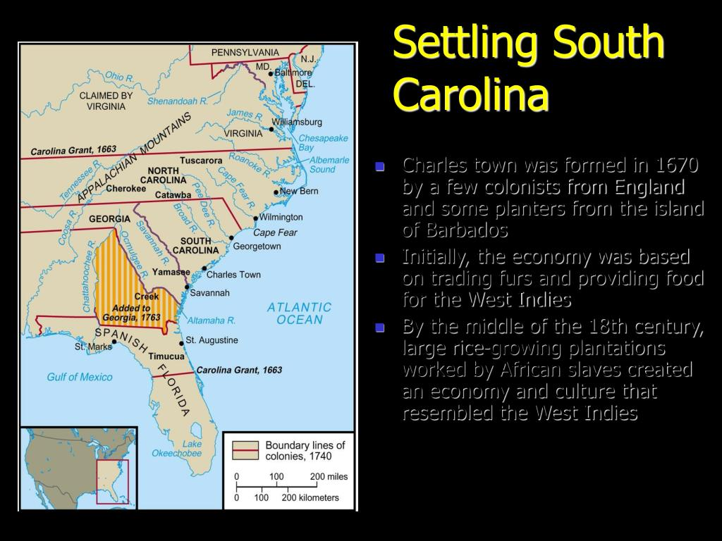 Settling South Carolina