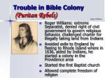 trouble in bible colony puritan rebels24
