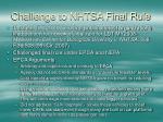 challenge to nhtsa final rule