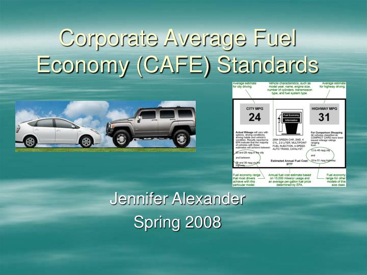 corporate average fuel economy cafe standards n.