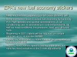 epa s new fuel economy stickers
