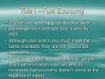 title i fuel economy
