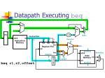 datapath executing beq