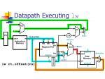 datapath executing lw