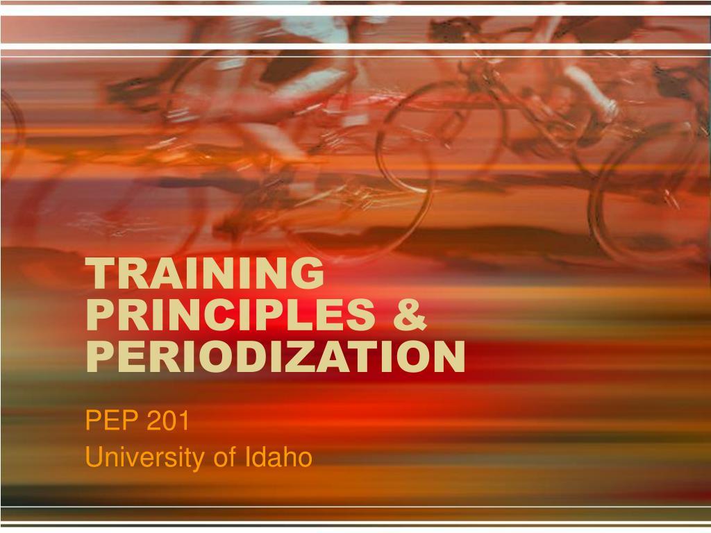 training principles periodization l.