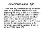 automobiles and style