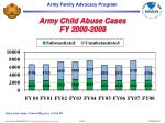 army child abuse cases fy 2000 2008