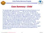 case summary child