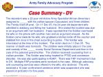 case summary dv