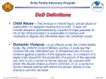 dod definitions
