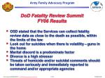 dod fatality review summit fy06 results
