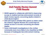dod fatality review summit fy06 results20
