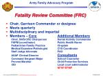 fatality review committee frc