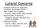 lateral concerns