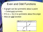 even and odd functions8