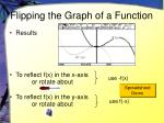 flipping the graph of a function5