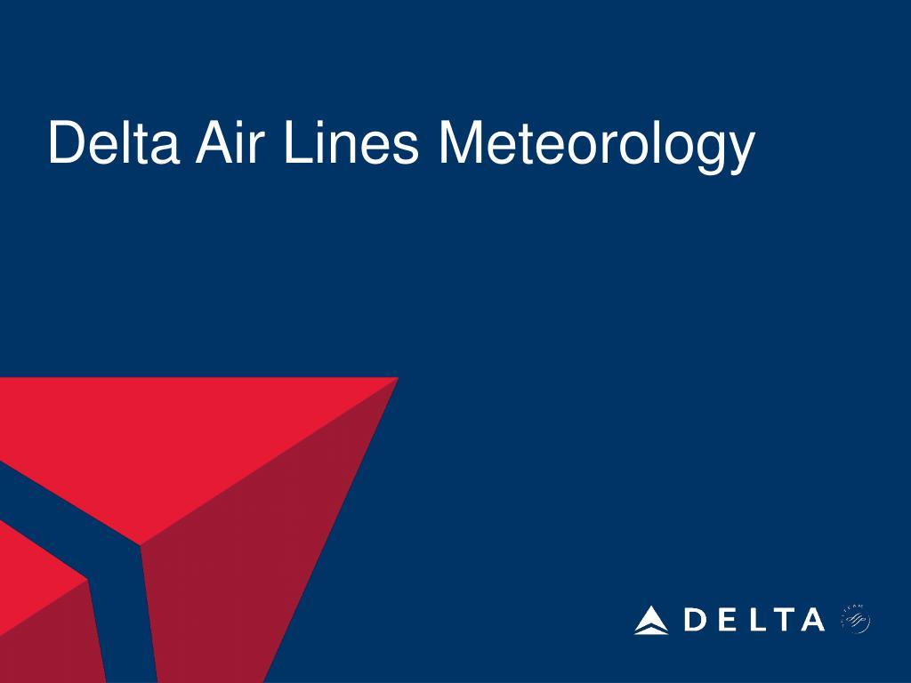 delta air lines meteorology l.