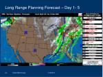 long range planning forecast day 1 5