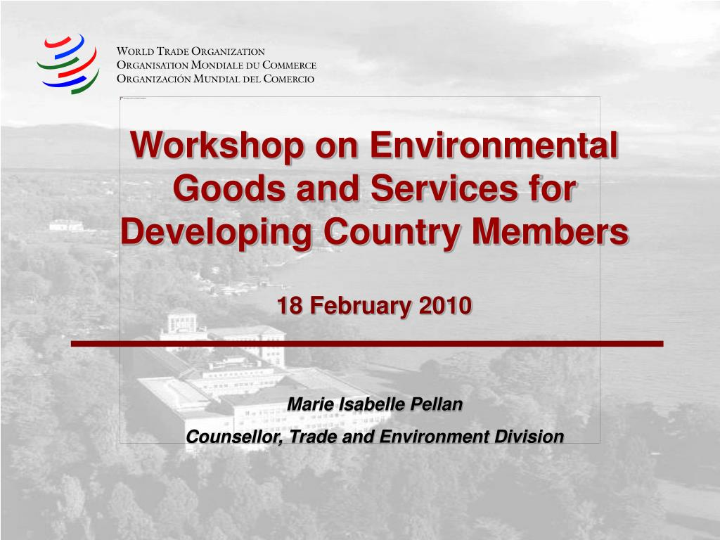 workshop on environmental goods and services for developing country members 18 february 2010 l.