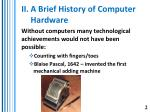 ii a brief history of computer hardware
