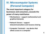 iv microcomputer systems personal computer