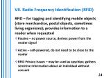 vii radio frequency identification rfid