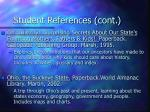 student references cont