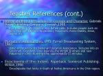 teacher references cont