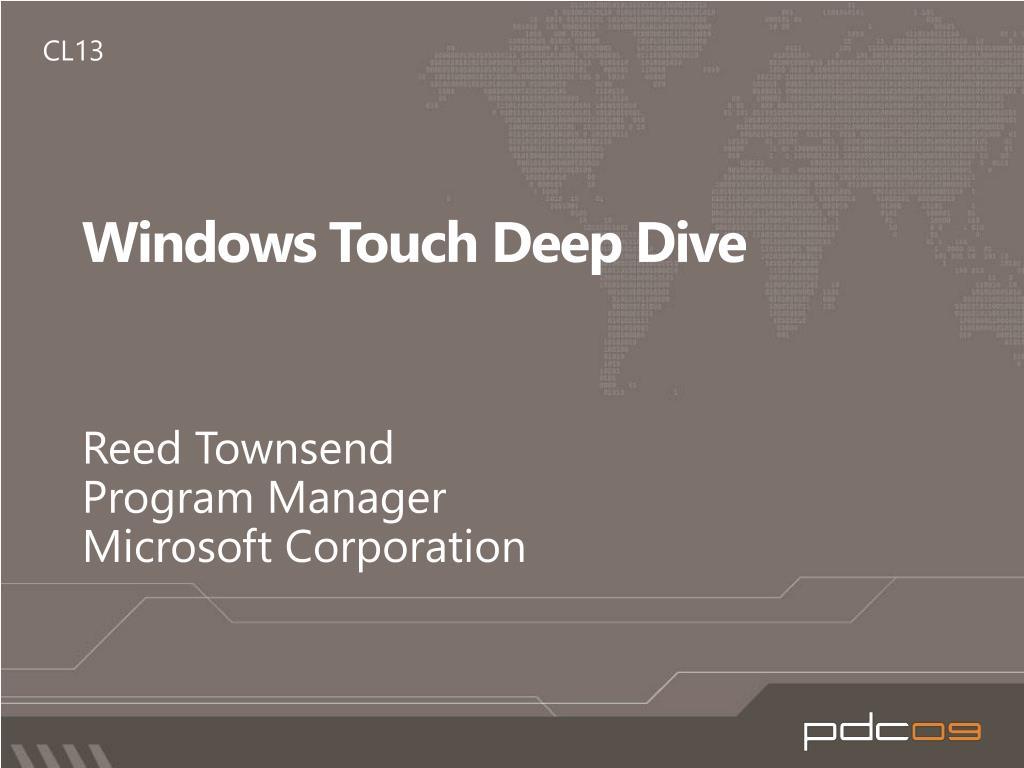 windows touch deep dive l.