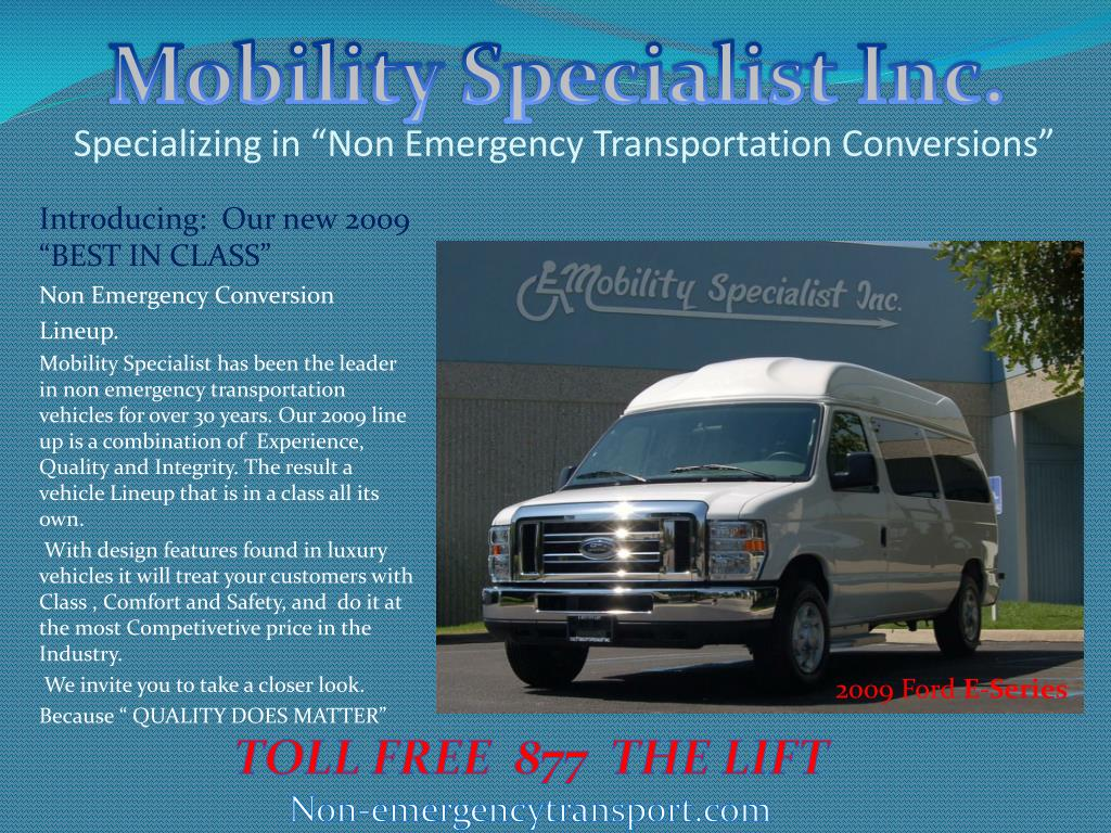 specializing in non emergency transportation conversions l.